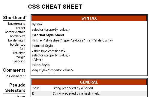 css-cheat-sheet