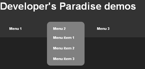 pure-css-dropdown-menu