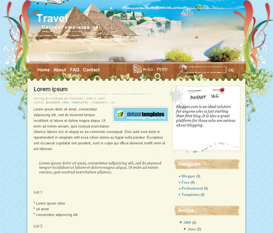 travel-deluxe-template