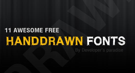 handdrawn-font-header