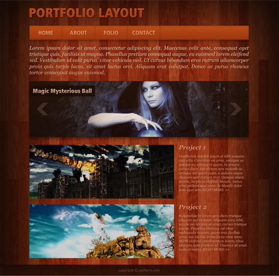 create-a-portfolio-layout-with-wooden-background-in-photoshop