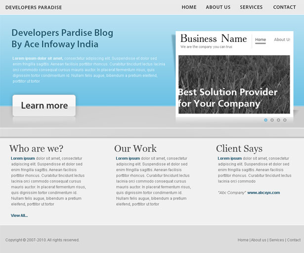 Developer's Paradise Blog » Download Free Portfolio Website ...